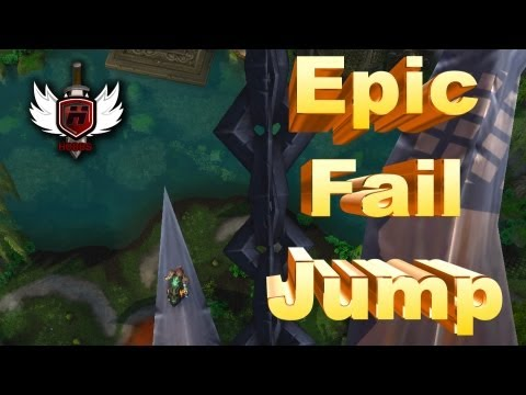 Epic Fail Jump Mists of Pandaria WOWHOBBS World of Warcraft (gameplay/commentary)