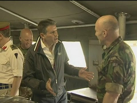 2012 Olympics: Seb Coe visits troops in Hainault, London