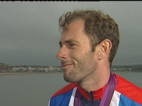 Team GB's Nick Dempsey reacts to Olympics 2012 windsurfing silver