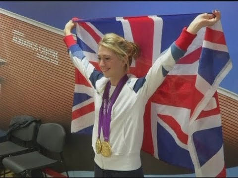 Laura Trott celebrates double gold at London 2012