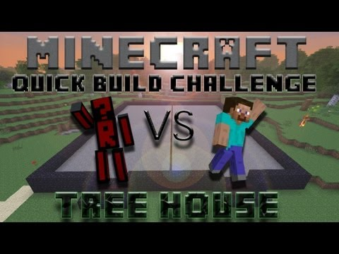 Minecraft Quick Build Challenge – Treehouse! (2v2)