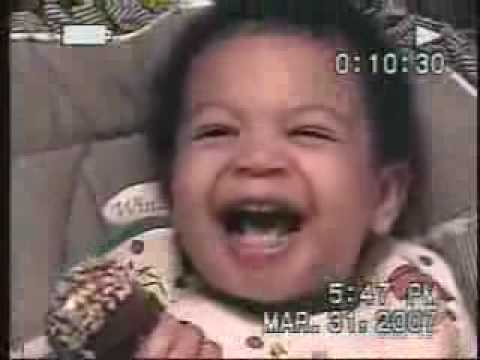 Black Baby Laughing Really Hard! LOL!!!