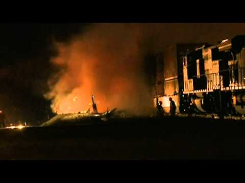Freight train collides with fuel tanker in Texas