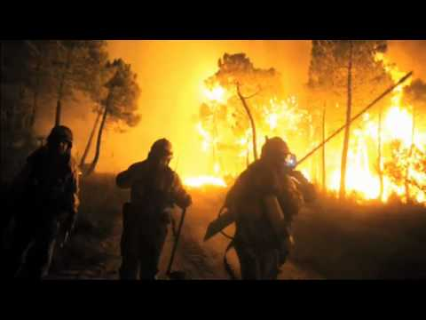 Spectacular footage of Spanish wildfires