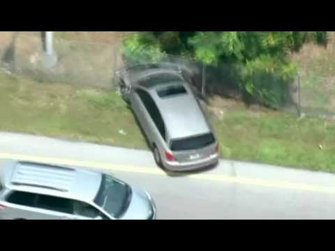 High-speed car chase in Miami ends with police firing shots