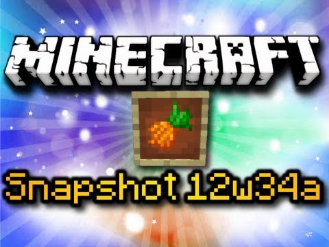 Minecraft Snapshot 12w34a – ITEM FRAMES, CARROTS, INVISIBILITY POTIONS & MORE! (HD)