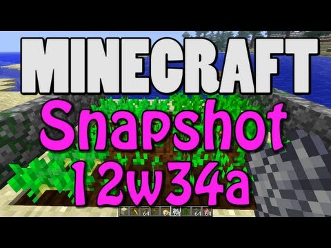 Minecraft Snapshot 12w34a (CARROTS! POTATOES! WALLS! FRAMES! MORE!)