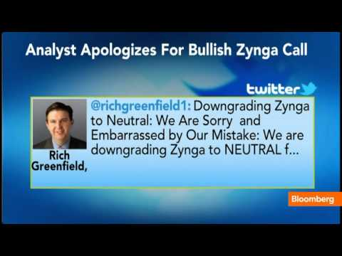 Analyst Apologizes for Wrong Call on Zynga