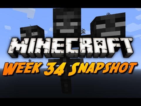 Minecraft Snapshots – 12w34a – Wither Boss, Item Frames, Dye Changes & More!