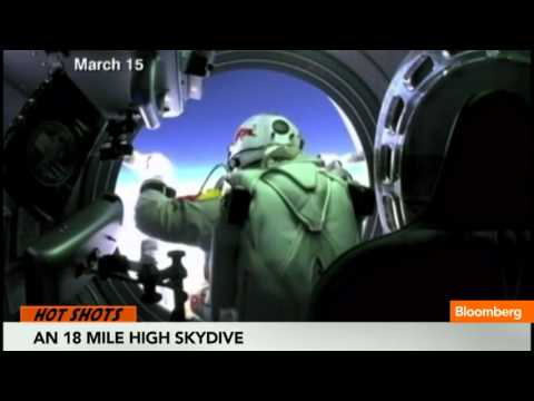 An 18 Mile High Skydive in Prep for Record Breaker