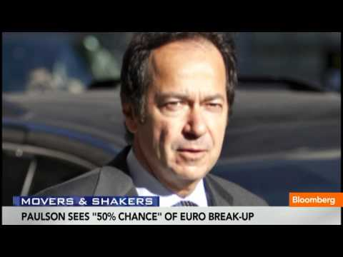 Paulson Sees 50% Chance of Euro Break Up