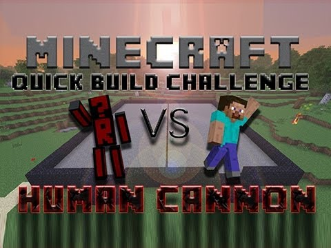 Minecraft Quick Build Challenge – Human Launching Cannon!