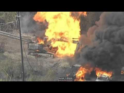Gas pipeline explodes in Texas