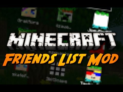 Minecraft: Friends Overlay Mod! (Add / Message Friends, Quick-Join Servers & More!)
