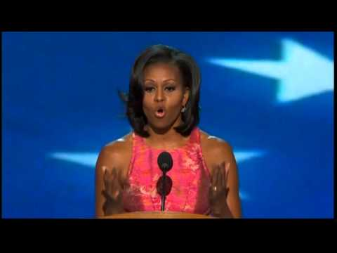 First Lady Michelle Obama fires up the faithful at Democratic convention