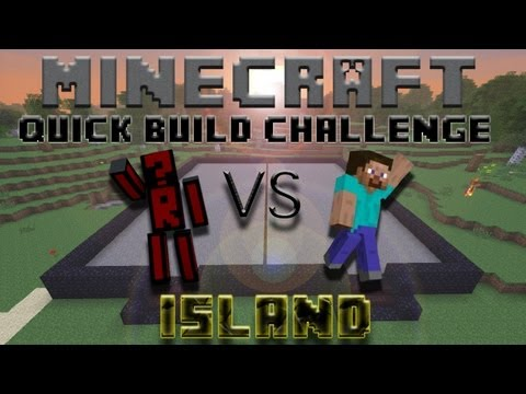 Minecraft Quick Build Challenge – Island! (No Block Breaking)