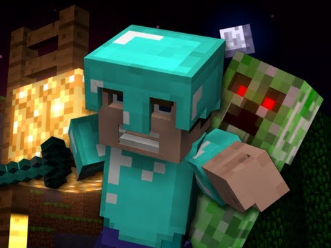 """Revenge"" – A Minecraft Parody of Usher's DJ Got Us Fallin' in Love – Crafted Using Noteblocks"