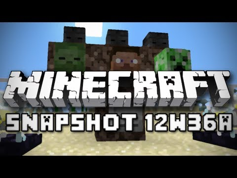 Minecraft: Mob Skulls, Wither Skeletons and More! (Snapshot 12w36a Overview)