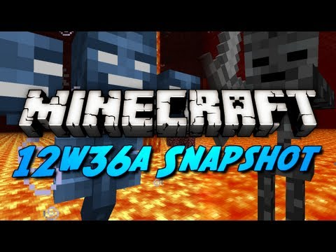 Minecraft Snapshots – 12w36a – Mob Heads, Wither Skeletons, Control Pigs & More!
