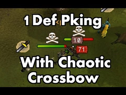 Runescape – 1 Defence Pure Pking With Chaotic Crossbow – Pepsies