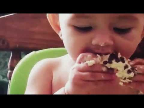 Very Funny baby – best First cupcake ever LOL!