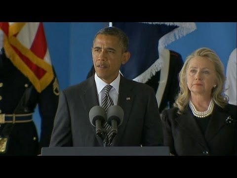 Obama, Hillary Clinton Honor Americans Killed in Libya; 2012 Campaigns Focus on Foreign Policy