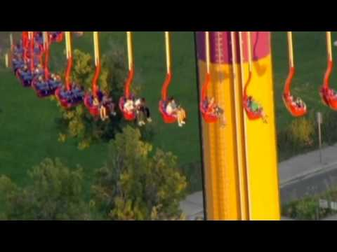 Amusement park fans get stuck 300 feet in the air on a ride in California