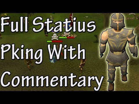 Pk K1n9 5's Runescape High Risking Full Statius Dragon Claws Pking With Commentary