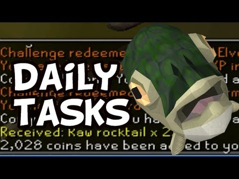 RuneScape Daily Chores (Fish Mask!)