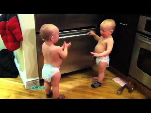 Two Adorable Talking Twins!