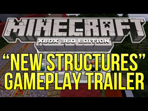 "Minecraft (Xbox 360) – 1.8.2 Update ""New Structures"" GAMEPLAY TRAILER BREAKDOWN + Creative Mode!"