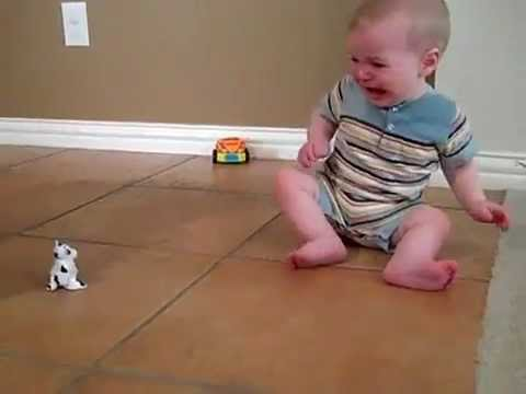 Cute baby gets Frightened by a Toy !!