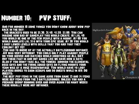 10 Things you might not know about World of Warcraft – ft ShiNoBi – WAY