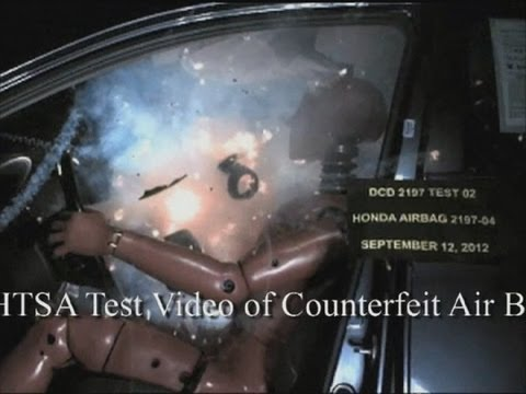 Airbag shoots flames and shards of metal: US combats counterfeits