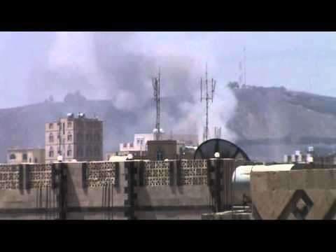 Shell hits arms depot near Yemen military headquarters