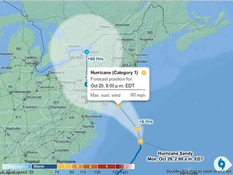Hurricane Sandy 2012: Latest Forecast
