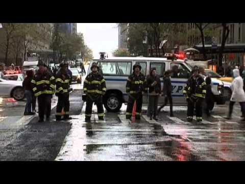 Hurricane Sandy: Crane collapses and front of building torn off in New York