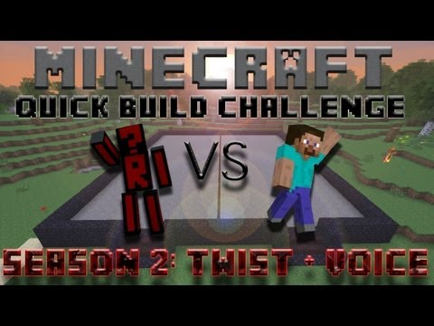 Minecraft Quick Build Challenge – Topic Hint: Revolution! (1v1 on Voice)