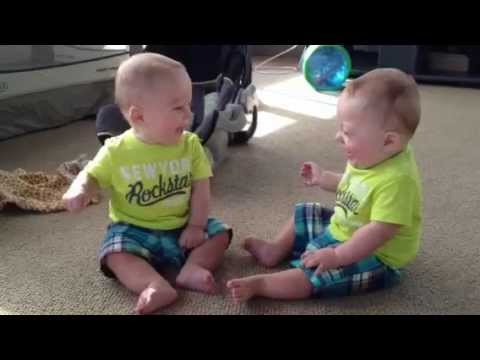 8 month old identical twins talking to eachother