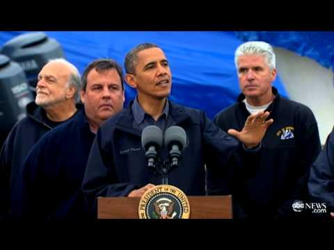 President Obama in New Jersey: Calls Hurricane Recovery a Federal, State and Local Effort