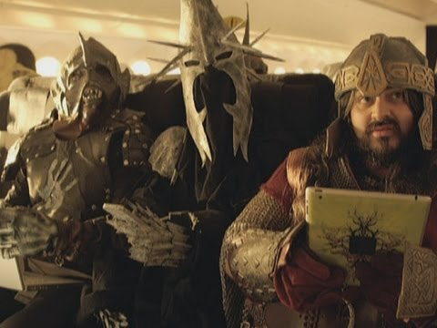 Air Middle Earth in-flight safety video