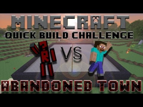 Minecraft Quick Build Challenge – Abandoned Town!