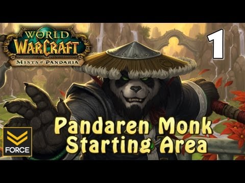 Mists of Pandaria: Pandaren Monk Starting Area Gameplay #1 (World of Warcraft)