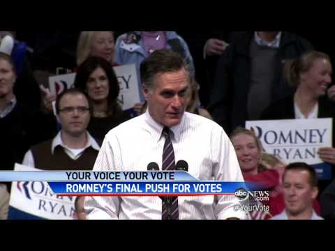 2012 Presidential Election With Mitt Romney, Barack Obama: Mitt Romney's Last-Minute Campaign Stops