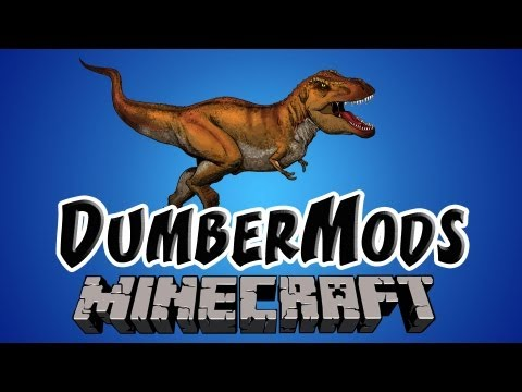 Minecraft Mods – Dinosaur Mod with NEW Biome | Minecraft DumberMods