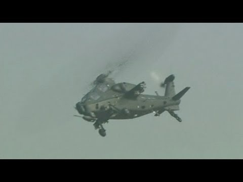 Chinese helicopter debuts amazing skills at airshow