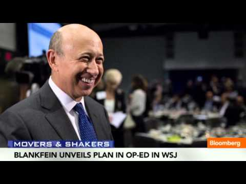 Goldman Sachs CEO Blankfein's US Revival Plan