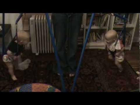 Funny Babies – Twins Giggling in Jolly Jumpers