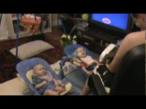 Funny Babies – Daddy scaring twins and making them giggle