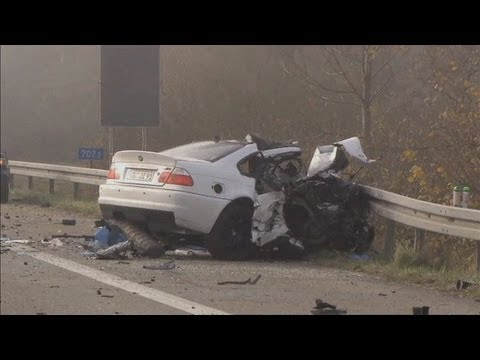 The horrifying aftermath of a crash that kills 6 after car drives wrong way on German motorway